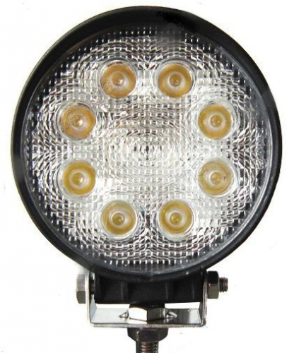 Pracovní světlo kulaté 8 LEDx3W, 12-24V, 6500K bílé,  1117
