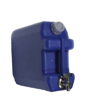 Kanystr plastový na vodu 10l s kovovým kohoutkem, modrý