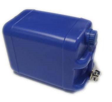 Kanystr plastový na vodu 20l s kovovým kohoutkem, modrý