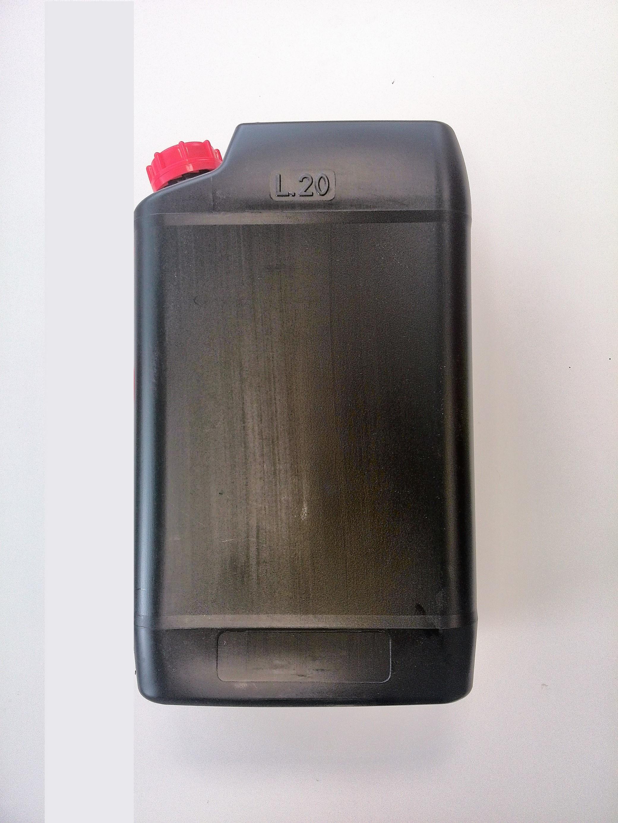 Kanystr plastový PHM 20l s nálevkou PLASTIK Slovinsko, černý
