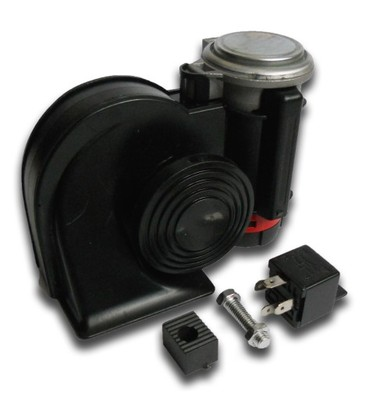 Klakson černý NAUTILUS 12V s kompresorem ZH014