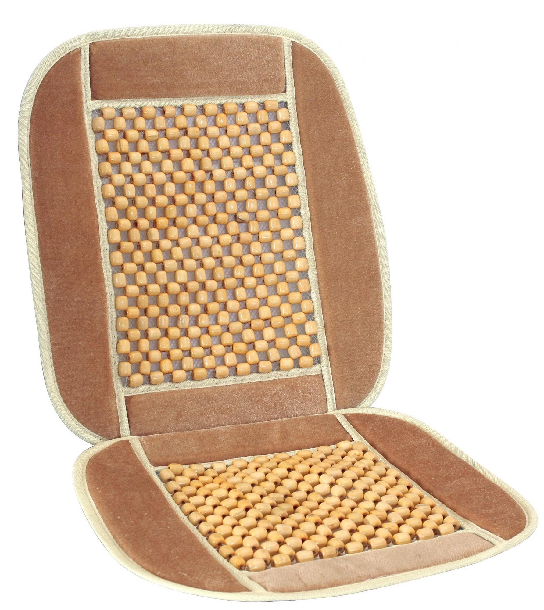Potah sedadla kuličkový s lemem béžový, 20.576