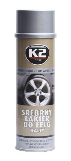 K2 SILVER LACQUER FOR WHEELS RALLY 500 ml - stříbrný lak na kola, ochrana proti kor, L332