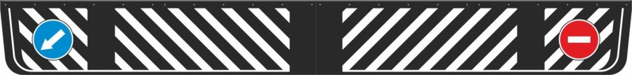 Zástěrky gumové, šrafovaná , 236x28cm, 0087