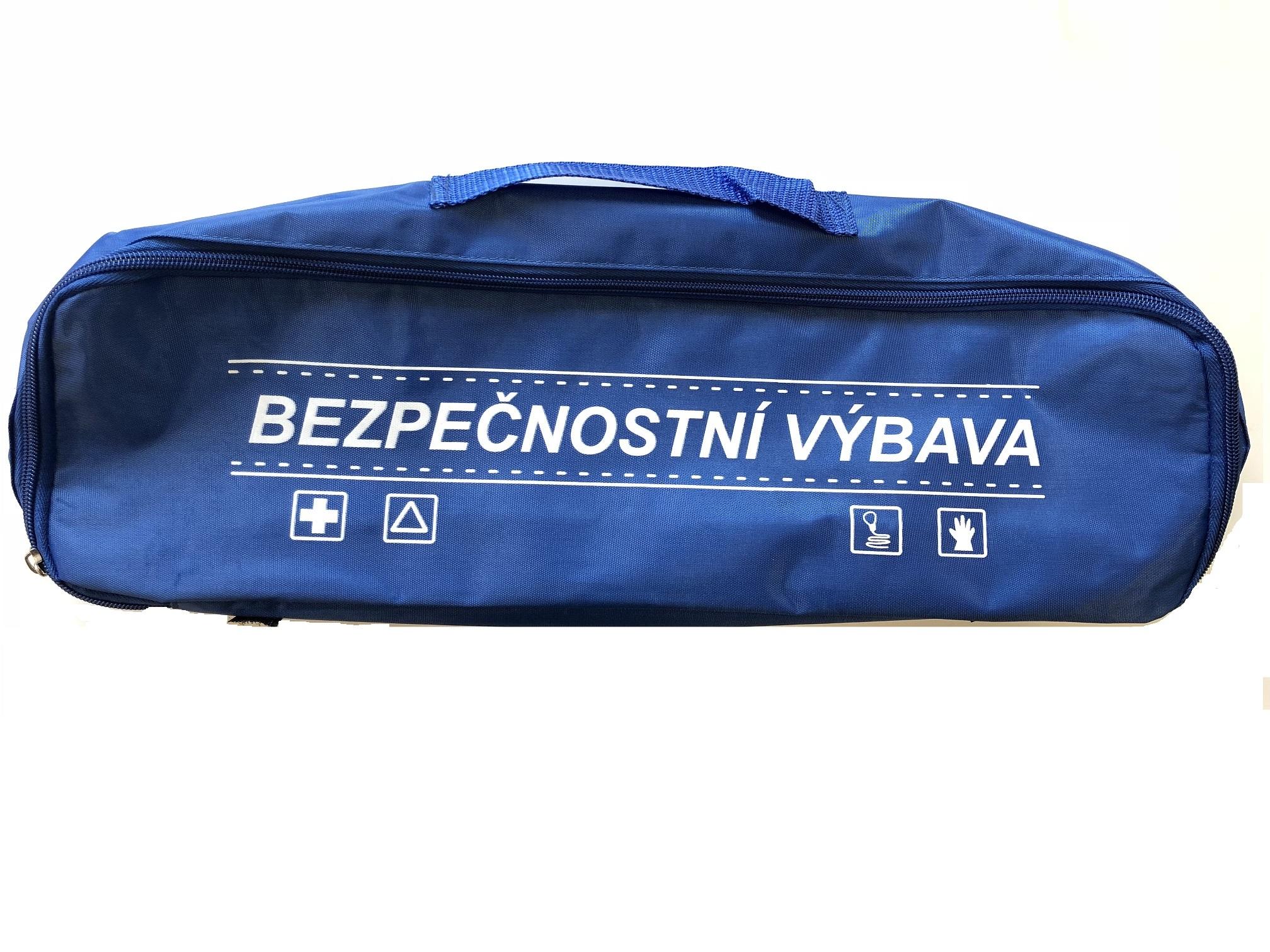 Textilní obal pro soupravu s povinnou výbavou, modrý