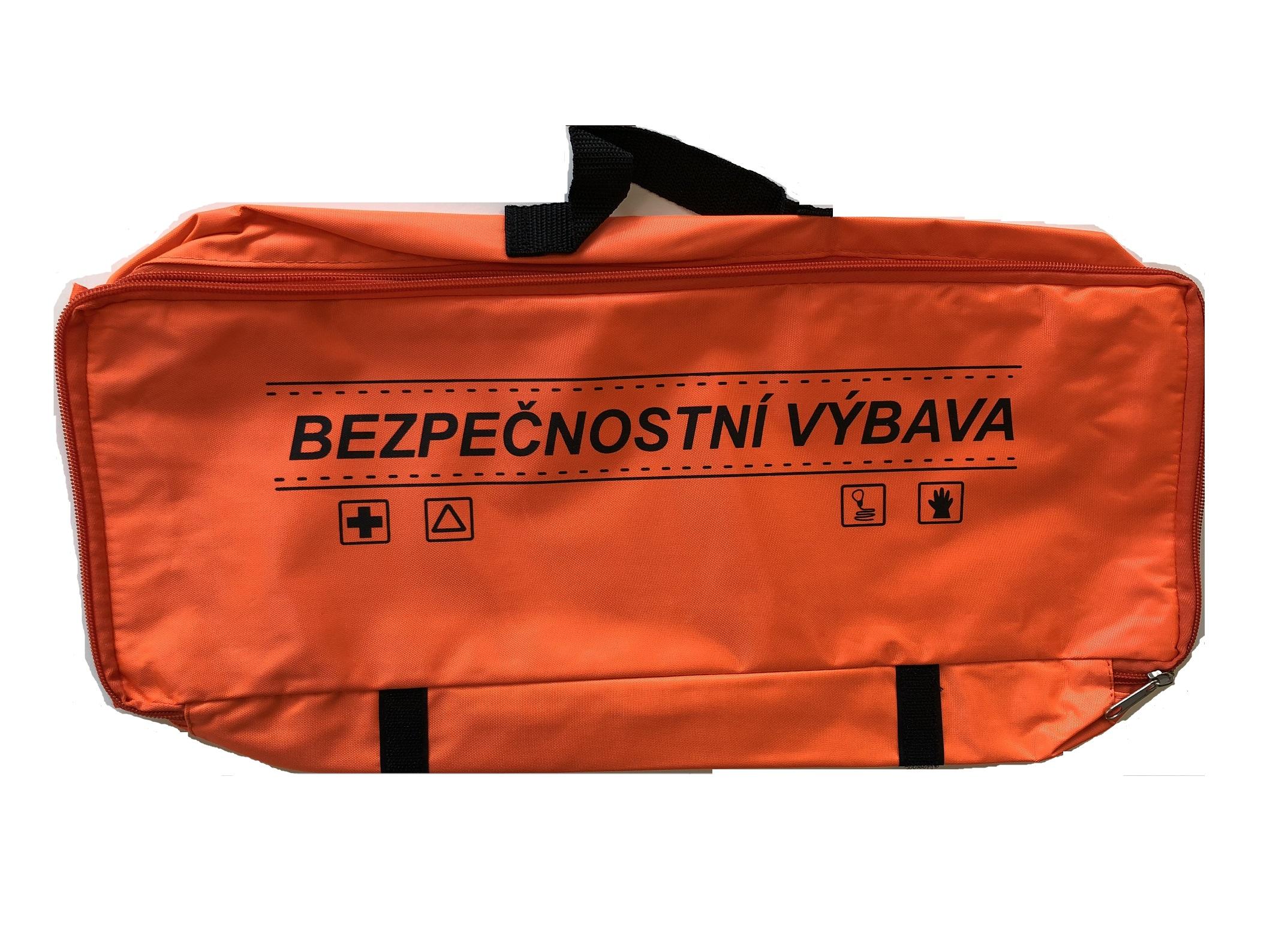Textilní obal pro soupravu s povinnou výbavou, oranžový