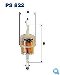 Benzinový filtr PS 822