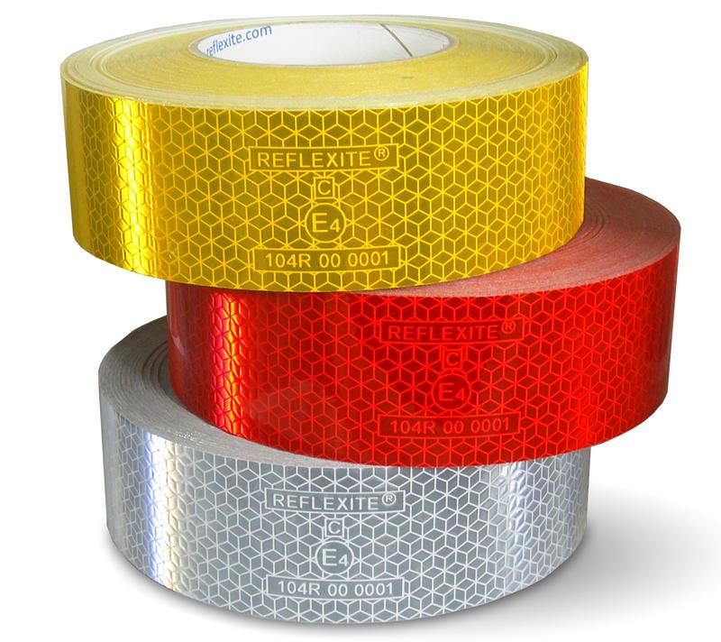Reflexní samolepící páska 5cm červená, 001-703