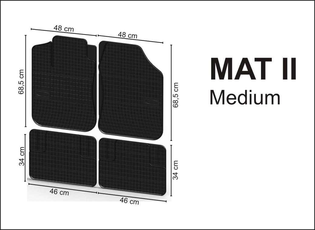 Gumové rohože universální  - MAT II