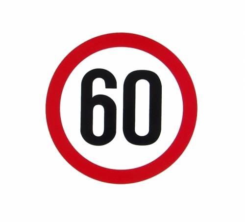 Samolepka omezená rychlost 60km/h