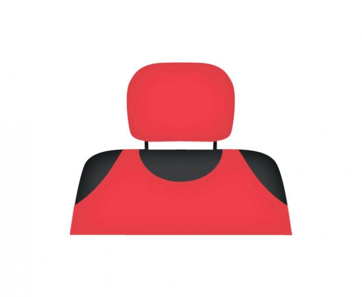 Potah opěrky hlavy červený, 5-3002-253-4060