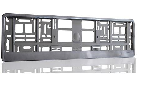 Podložka pod SPZ metallic s odnímatelným panelem grafitová