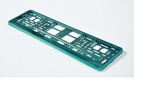 Podložka pod SPZ metallic s odnímatelným panelem zelená