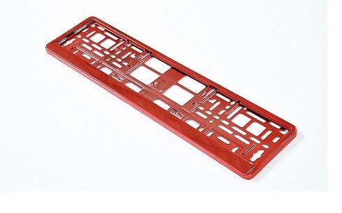 Podložka pod SPZ metallic s odnímatelným panelem červená