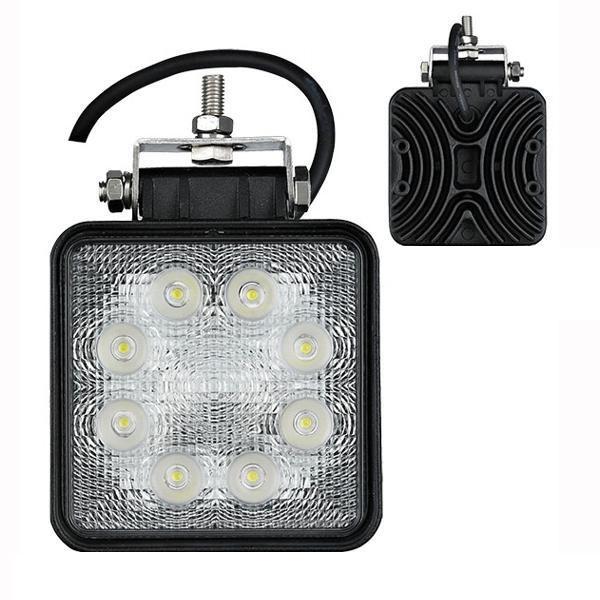 Pracovní světlo hranaté 8 LEDx3W, 12-24V, 6500K bílé, 1118
