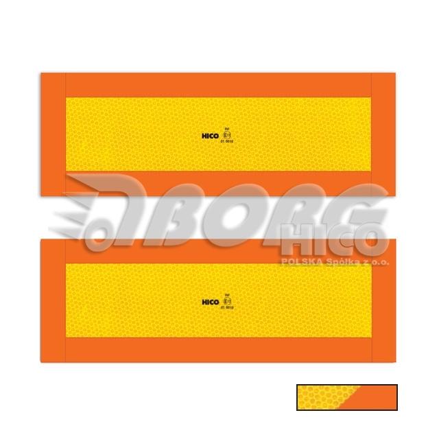 Výstražná tabule na přívěs E20, (hliníková) TWY061