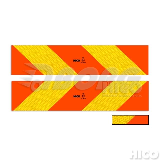 TWY073 výstražná tabule na auto (tahač) 565x132mm šrafovaná E20 (hliníková)