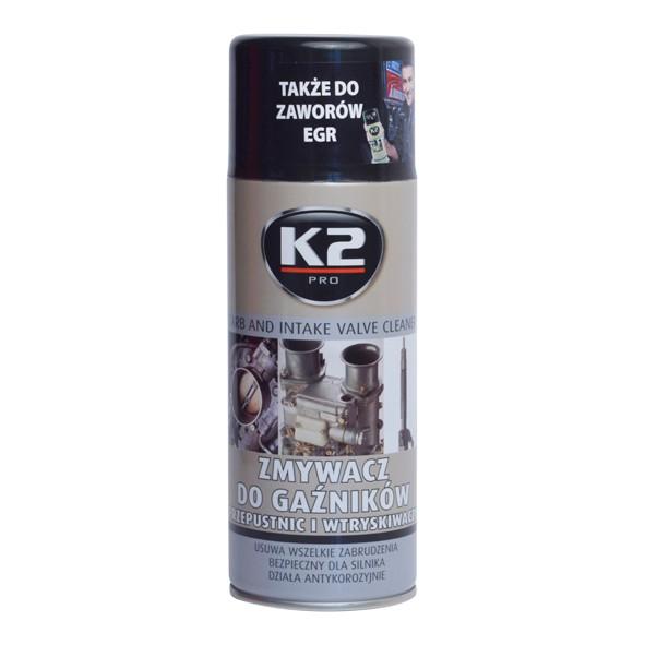 K2 ČISTIČ VENTILŮ, KARBURÁTORŮ A VSTŘIKOVAČŮ 400 ml , W128