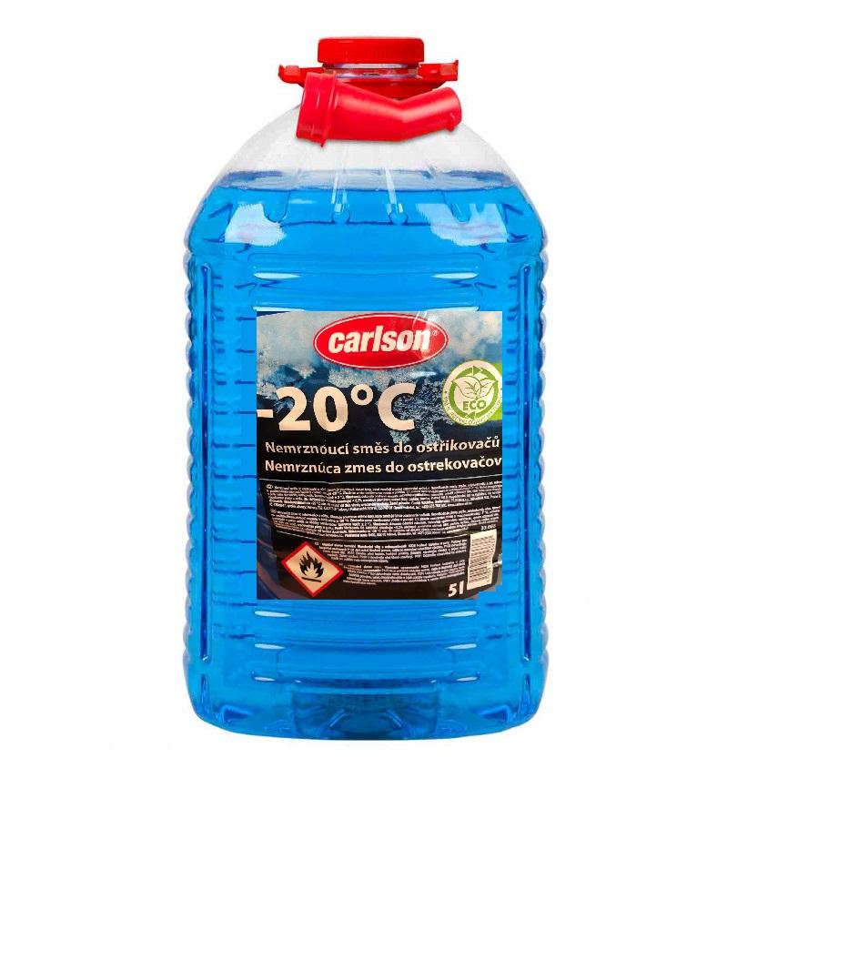 Nemrznoucí směs do ostřikovačů CARLSON -20°C, -5L PET láhev s nálevkou, 33.663