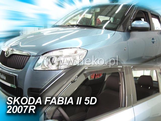 Plexi Škoda Fabia II 4D 07R (1265)