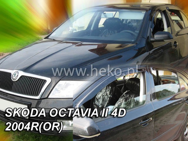 Plexi Škoda Octavia II 5D 04R (876)