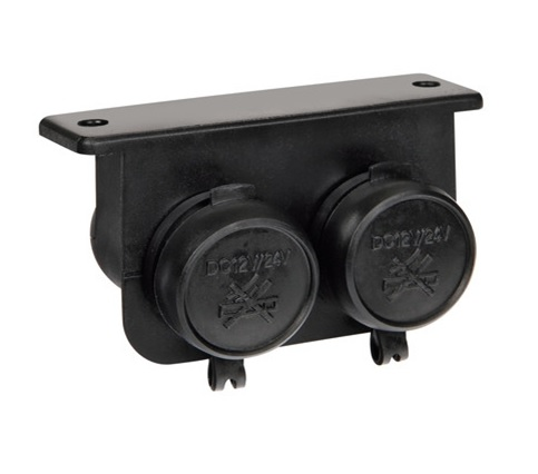 Zásuvka zapalovače dvojitá vodotěsná, 39029