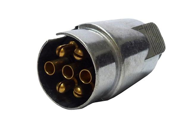Zástrčka na přívěs 7 pólová kovová, 58082