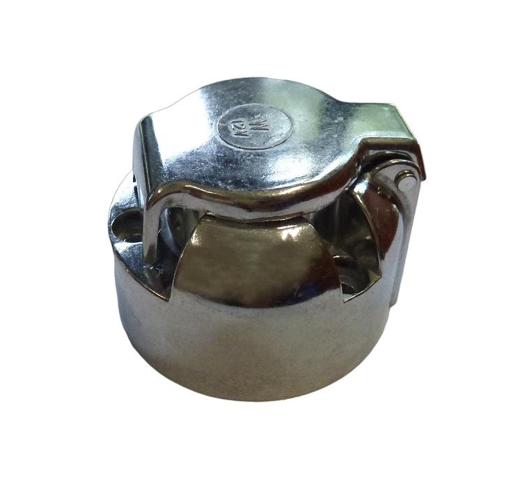 Zásuvka na přívěs 7 pólová kovová bez gumové podložky