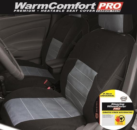 Vyhřívaný potah do auta uhlíkový Heyner WarmComfort PRO 505600