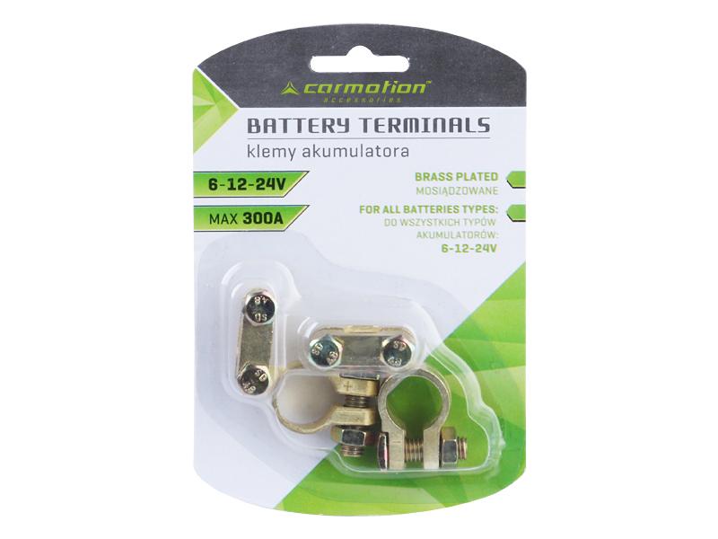 Sada bateriových svorek mosazných, 58964