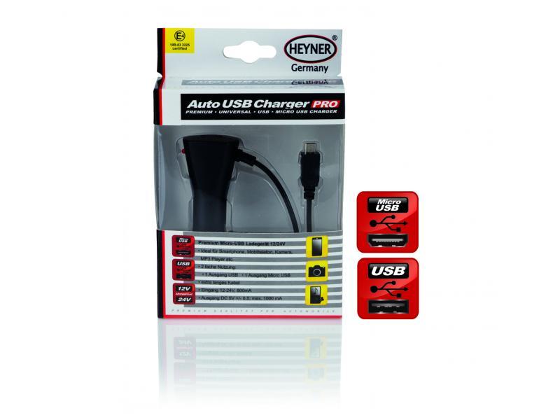 CL nabíječka Micro USB 12V/24V HEYNER 511500