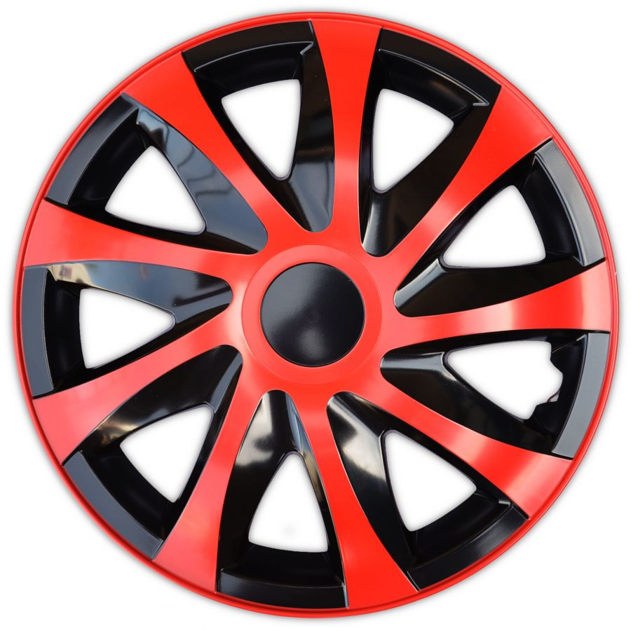 "Poklice 14"" DRACO CS BLACK-RED"