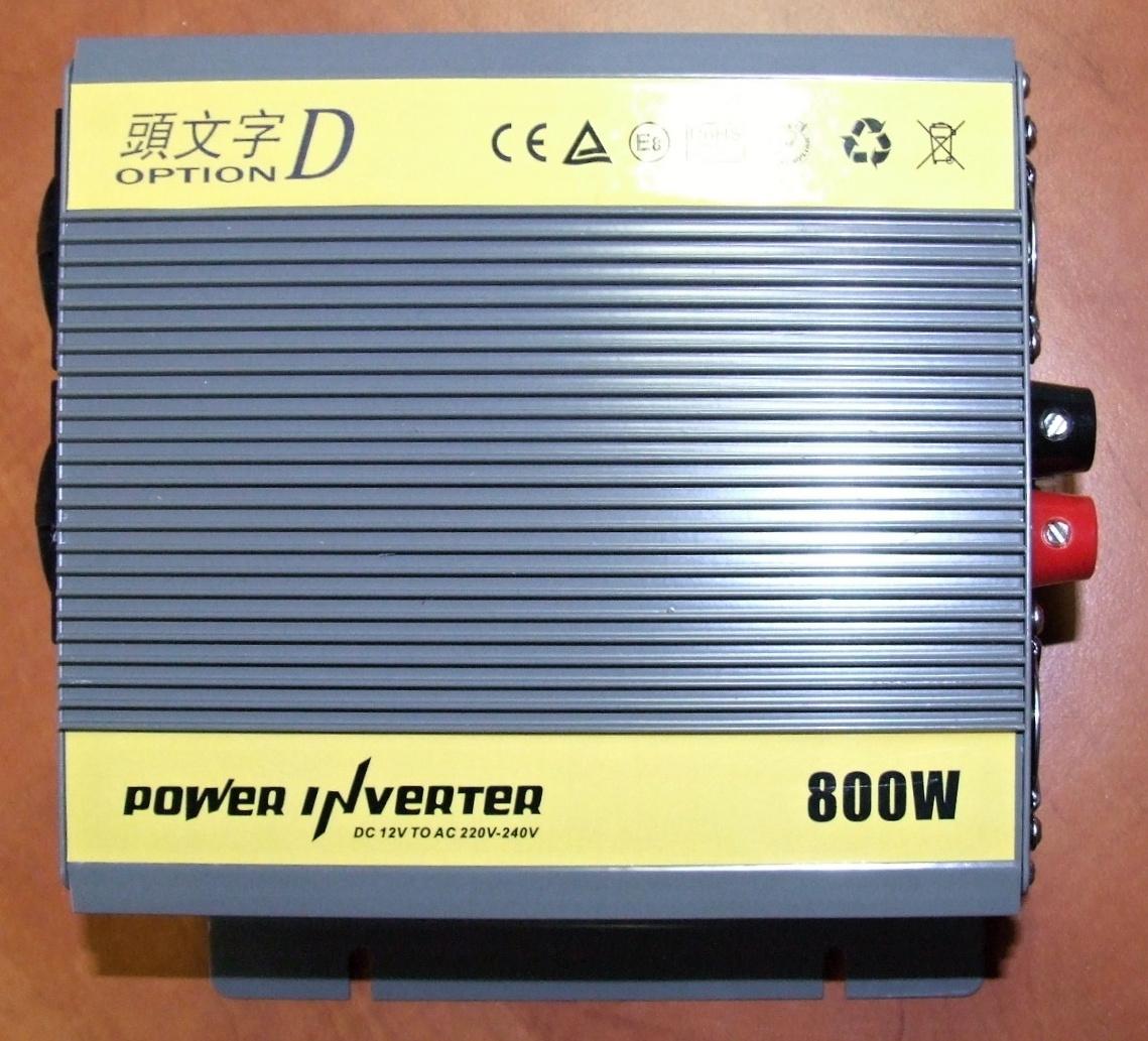 Měnič nápětí z 12V na 220V 800W, CHT-800
