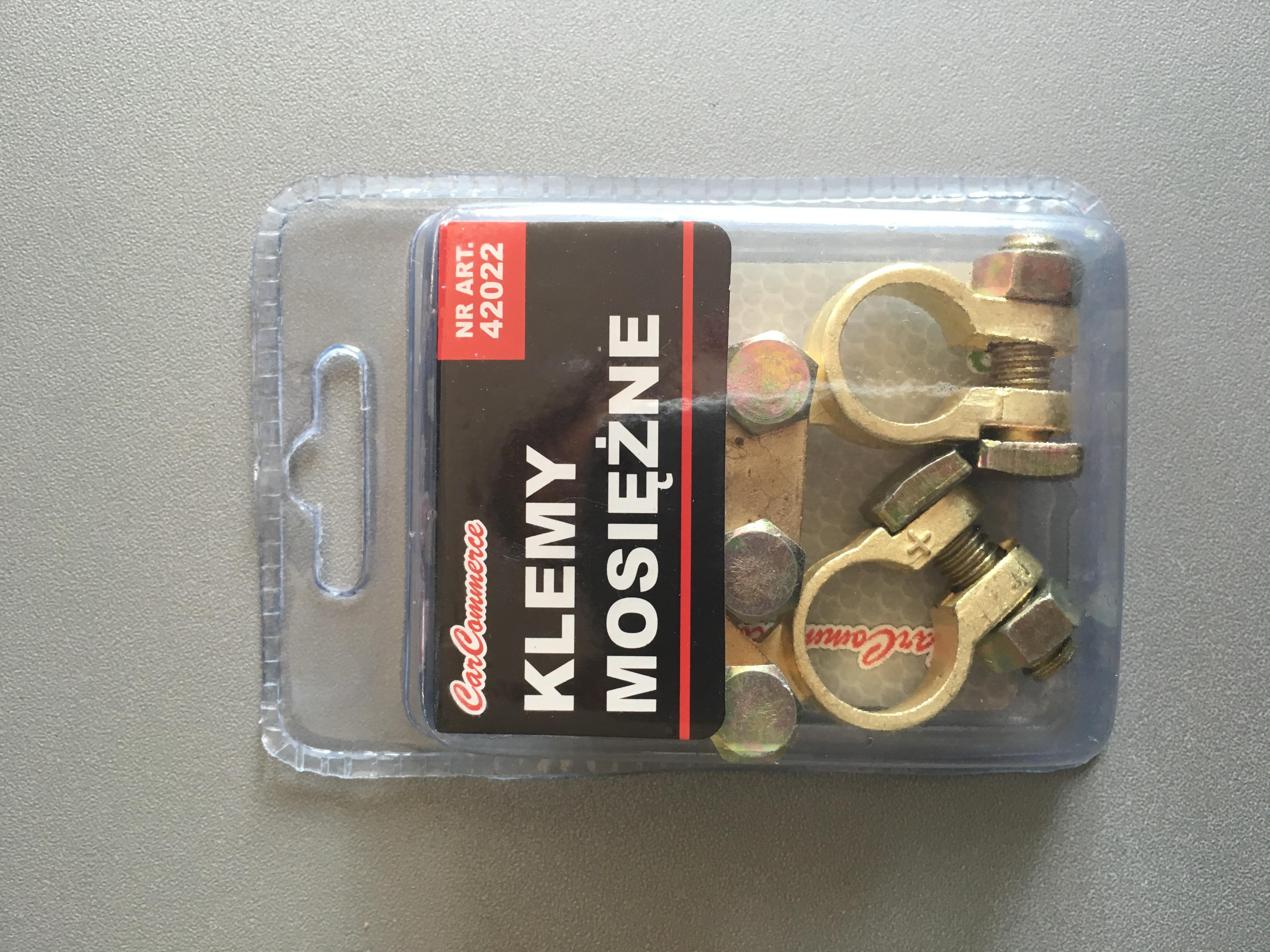Sada bateriových svorek mosazných 42022