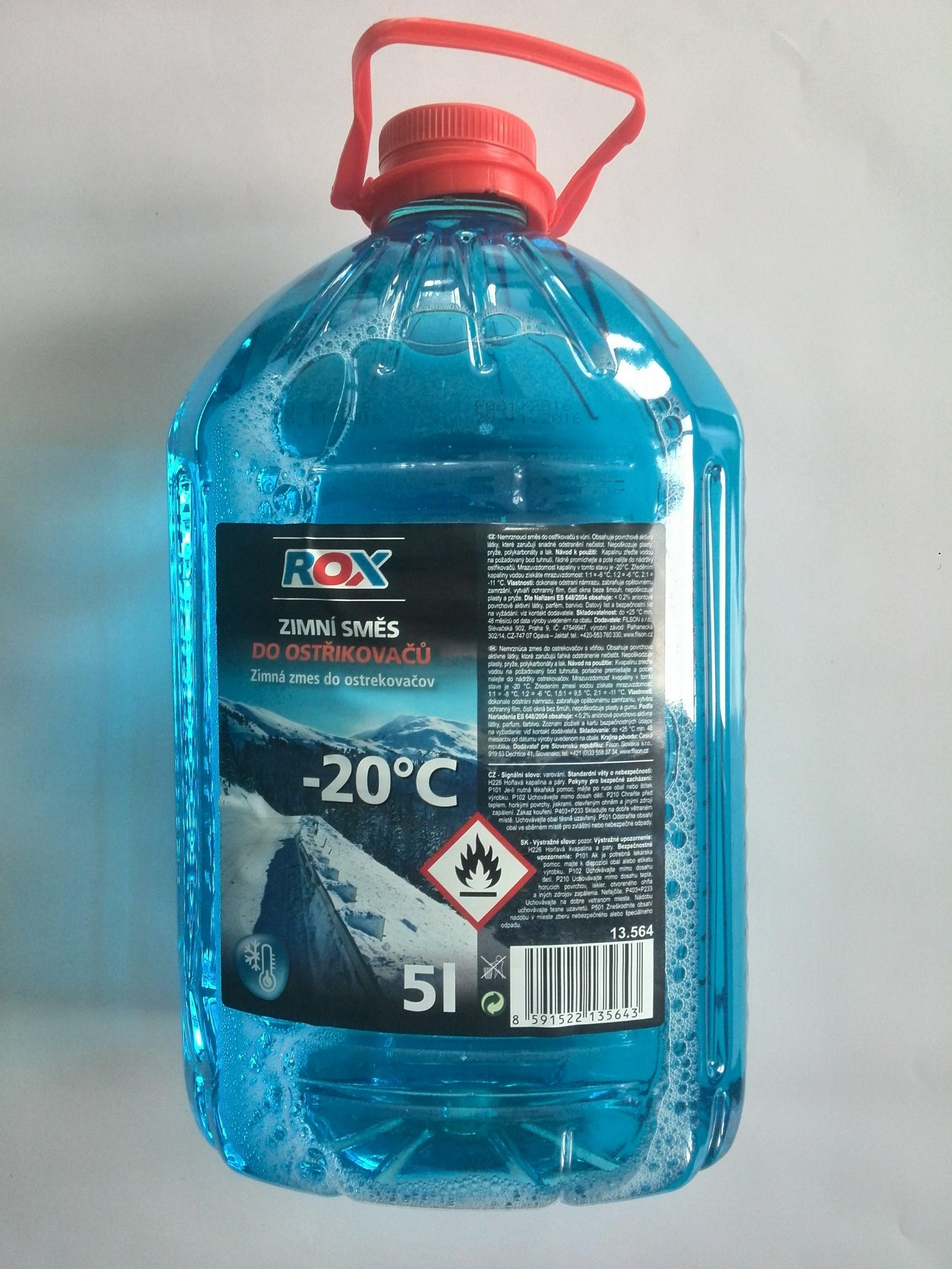 Nemrznoucí směs do ostřikovačů -20°C, 5L PET láhev 13.564