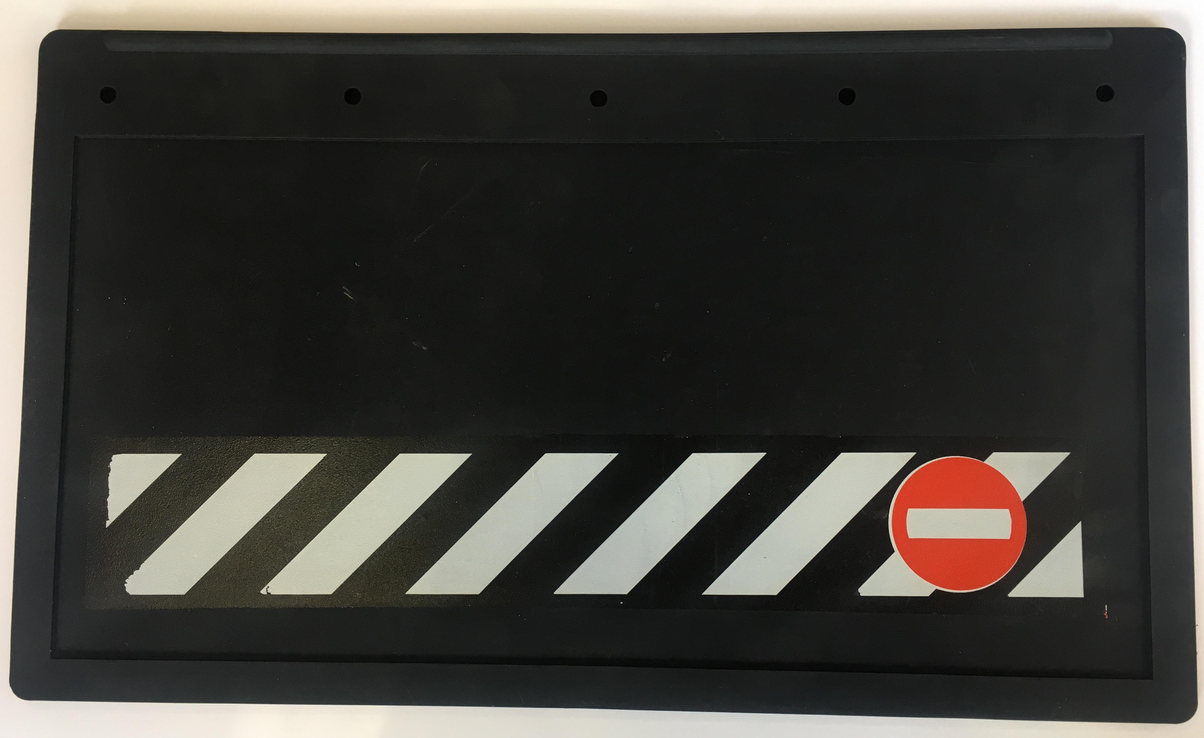 Zástěrky gumové 53x30cm, šrafovaná, 2ks