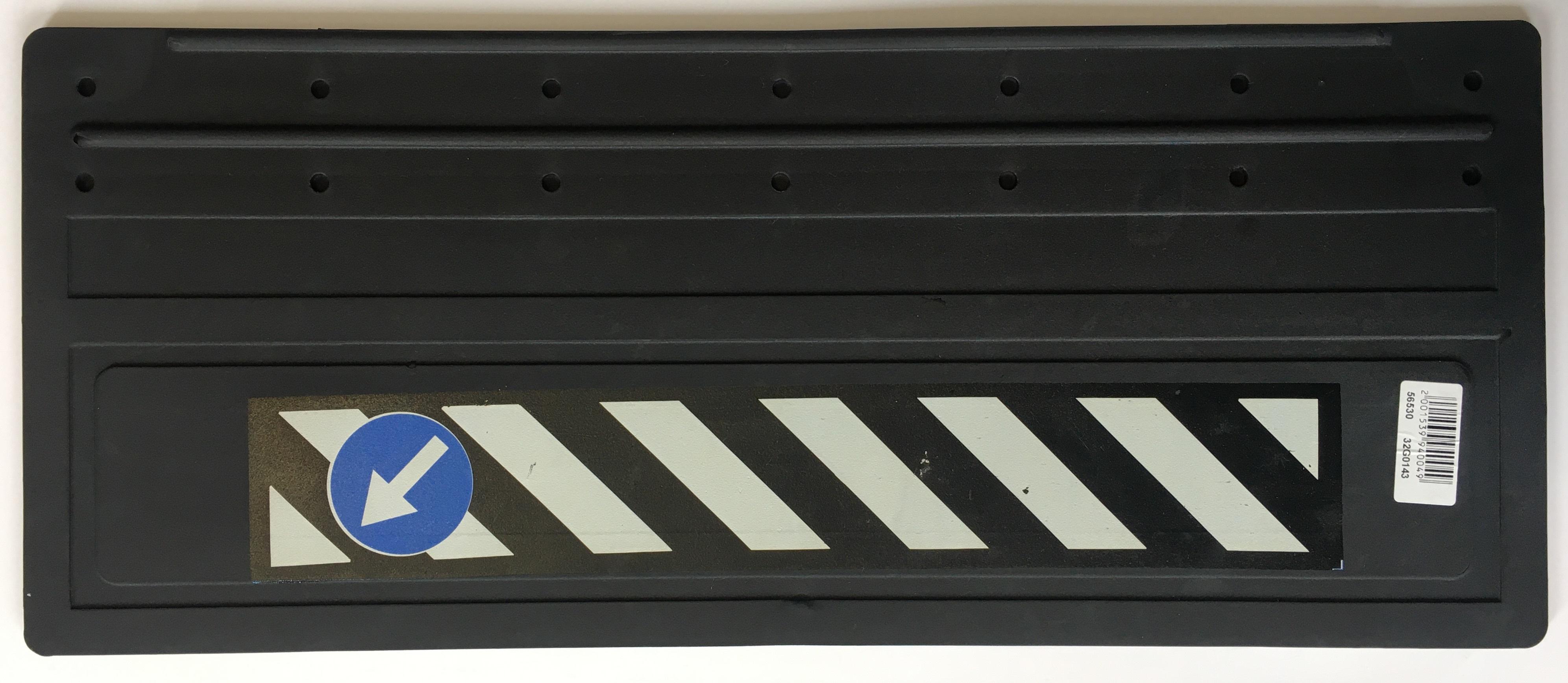 Zástěrky gumové 62x25cm, šrafovaná, 2 ks