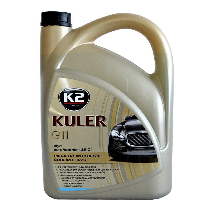 K2 KULER G11 MODRÁ 5 l - nemrznoucí kapalina do chladiče do -35 °C , T205N