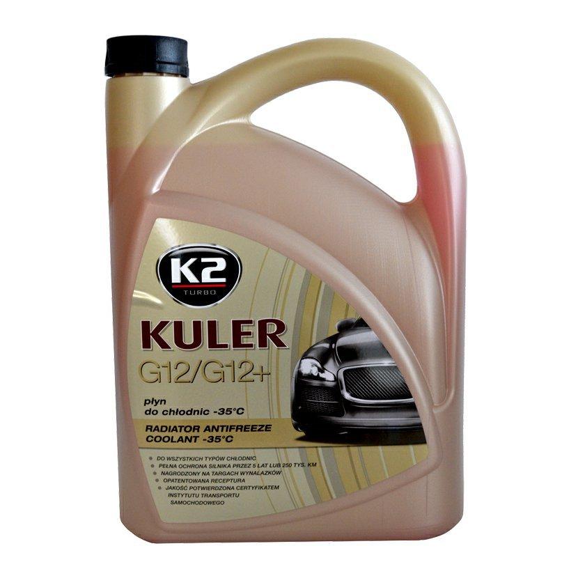K2 KULER G12 ČERVENÁ 5L - nemrznoucí kapalina do chladiče do -35 °C, T205C