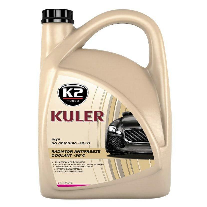K2 KULER RŮŽOVÁ 5 l - nemrznoucí kapalina do chladiče do -35 °C, T205R