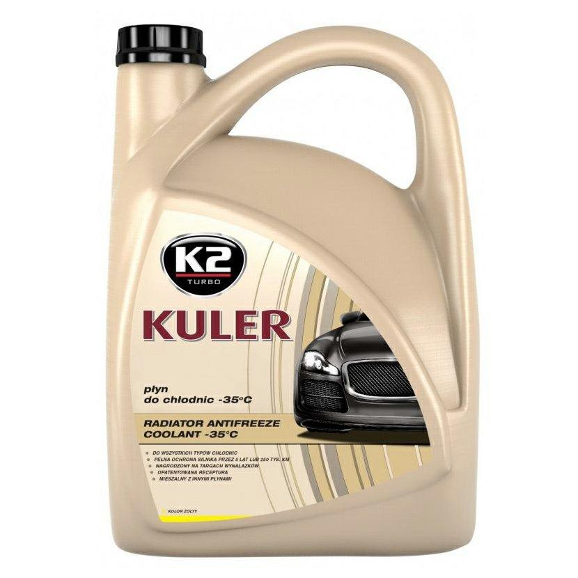 K2 KULER ŽLUTÁ 5 l - nemrznoucí kapalina do chladiče do -35 °C, T205Y