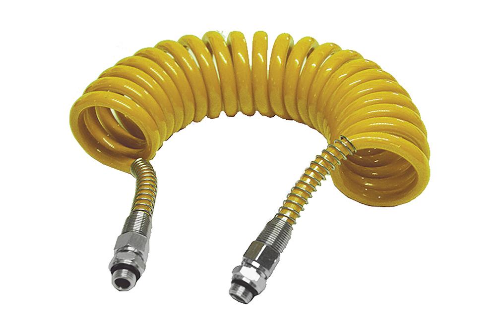 Vinutá vzduchová hadice žlutá, M16, L-5,5m, PPN009