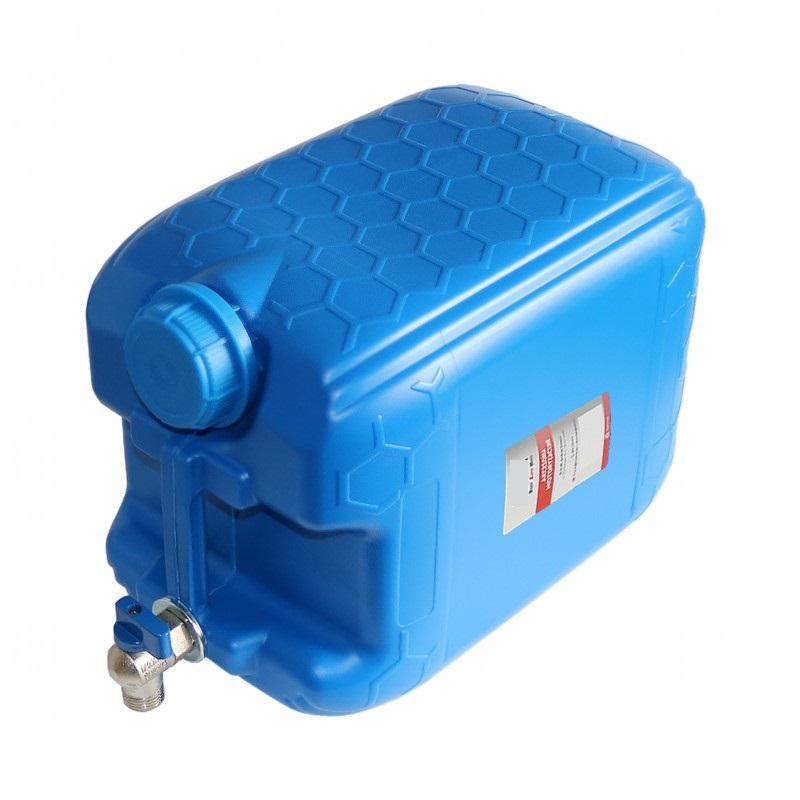 Kanystr plastový na vodu MODRÝ 20l s kovovým kohoutkem horním, 30021