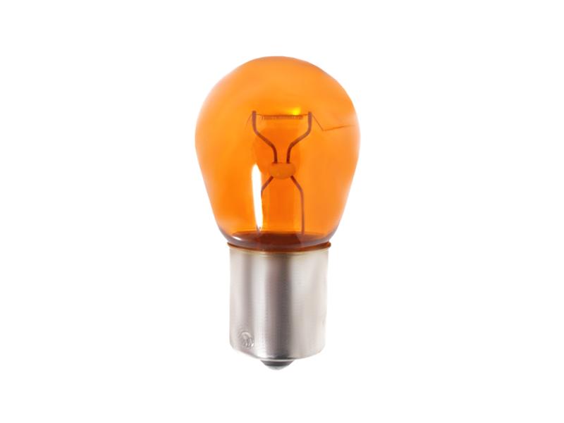Žárovka 12V/21W BA oranžová - souměrná - balení 10 ks