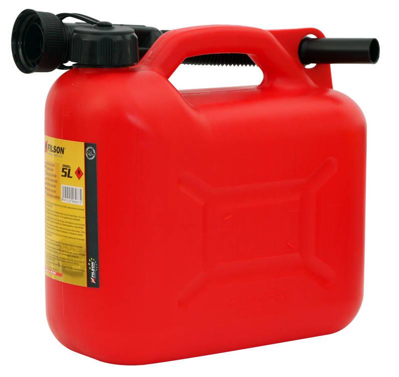 Kanystr plastový PHM 5l, červený, 20.071