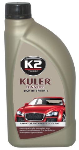 K2 KULER G12/G12+ 1L ČERVENÁ - nemrznoucí kapalina do chladiče do -35 °C, T201C